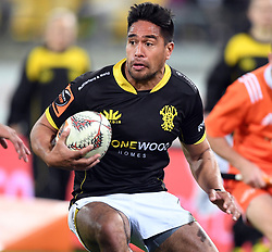 Wellington's Trent Renata against Northland in the Mitre 10 Semi Final Rugby match at Westpac Stadium, Wellington, New Zealand, Friday, October 20, 2017. Credit:SNPA / Ross Setford  **NO ARCHIVING**