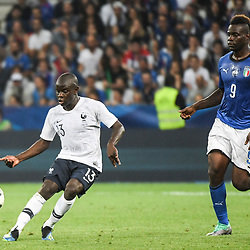 Ngolo Kante of France and Mario balotelli of Italy during the International Friendly match between France and Italy at Allianz Riviera Stadium on June 1, 2018 in Nice, France. (Photo by Anthony Dibon/Icon Sport)