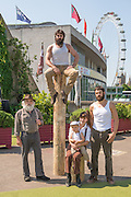 It's the The UK debut of Cirque Alfonse with Timber! This is the UK premier and the first of Southbank Centre's two big summer shows for 2013. he family: Alain Carabinier (66) his children Antoine Carabinier-Lépine (32 biggest beard!) and Julie Carabinier-Lépine (29), her son Arthur Casaubon (2), plus Jonathan Casaubon (33 other beard!), Arthur's father and Julie's partner Matias Salmenaho (26 ginger beard and dungarees!).