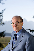 Federal Reserve Bank Chairman Alan Greenspan for the FRB taken in 2005 in Jackson Hole, Wyoming.