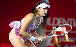 October 10, 2018 - Alize Cornet of France in action during her second-round match at the 2018 Prudential Hong Kong Tennis Open WTA International tennis tournament (Credit Image: © AFP7 via ZUMA Wire)