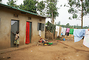 Photographed in Uganda, Kibale National Park Local worker's hovels