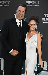 Former England Goalkeeper David Seaman and Frankie Poultney arrive to the Best FIFA Football Awards 2018 at the Royal Festival Hall, London, UK, on September 24, 2018. Photo by Christian Liewig/ABACAPRESS.COM