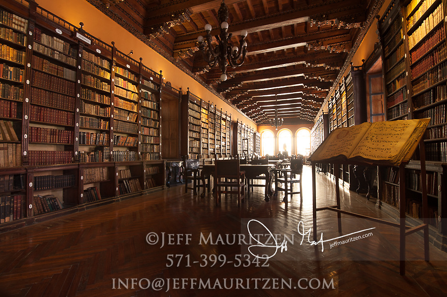 Library at the Convent of Santo Domingo in Lima, Peru.
