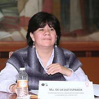 Toluca, México.- María de la Luz Estrada, Coordinadora del Observatorio Nacional Ciudadano del Feminicidio durante el foro de Equidad de Genero y la No Violencia a la Mujer, organizado por el Barzón en la Cámara de Diputados. Agencia MVT / José Hernández