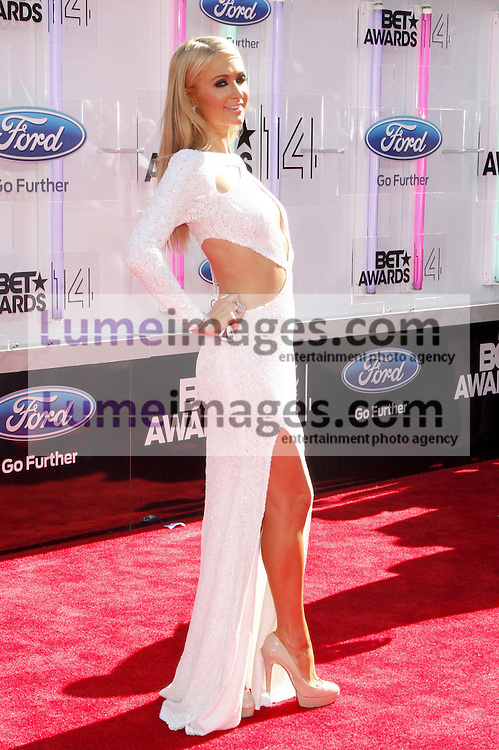 Paris Hilton at the 2014 BET Awards held at the Nokia Theatre L.A. Live in Los Angeles, USA on June 29, 2014.