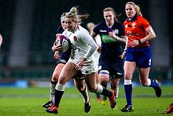 Natasha Hunt of England Women runs with the ball - Mandatory by-line: Robbie Stephenson/JMP - 16/03/2019 - RUGBY - Twickenham Stadium - London, England - England Women v Scotland Women - Women's Six Nations