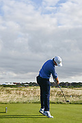 Steve Fisk (USA) plays from the fifth tee during the Sunday Foursomes in the Walker Cup at the Royal Liverpool Golf Club, Sunday, Sept 8, 2019, in Hoylake, United Kingdom. (Steve Flynn/Image of Sport)