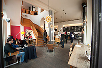 04 JAN 2012, BERLIN/GERMANY:<br /> Cafe Oberholz, Rosenthaler Platz<br /> IMAGE: 20120104-01-031