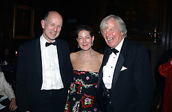 The British Antiques Dealers Association's Biennial Banquet held at Armoury House, HAC, City Road, London EC1 on 25th November 2004.<br />Picture shows left to right, CHRISTOPHER CLAXTON STEVENS, SANDRA CRONAN and EDWARD TWINBERROW.<br />COMPLIMENTARY PICTURES FOR USE IN RELATION TO THE BADA BANQUET ONLY.  LICENSE VALID UNTIL 26/03/2005.