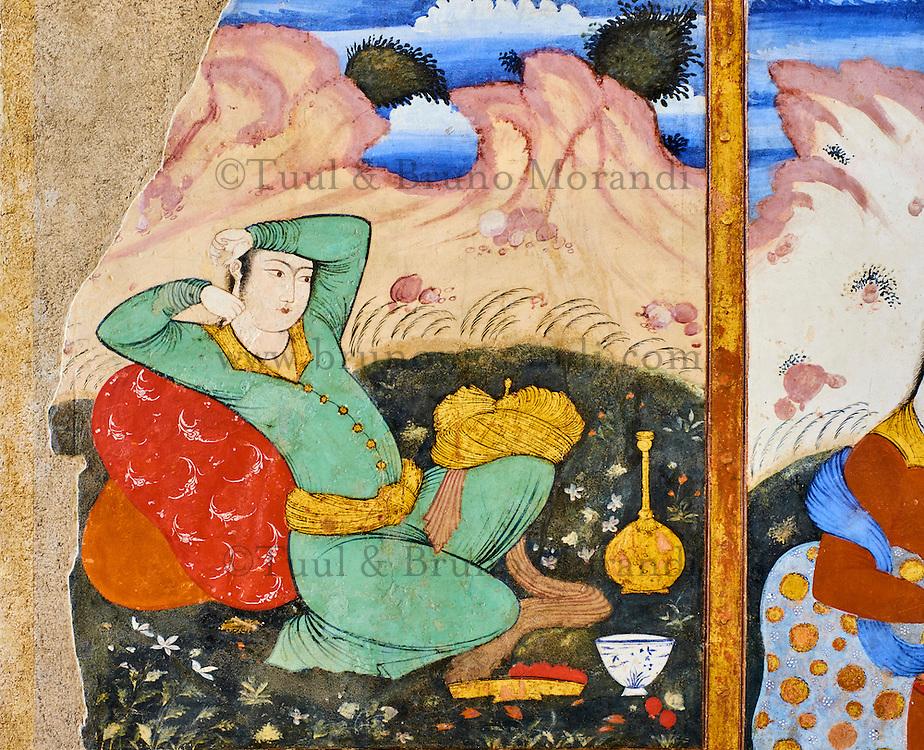Iran, province d'Ispahan, Ispahan, Palais de Chehel Sotun, peinture murale // Iran, Isfahan, Chehel Sotun palace, The Great hall or Throne hall painting