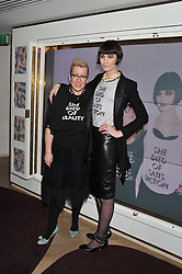 Left to right, KATE HALFPENNY and ERIN O'CONNOR co-fonders of She Died of Beauty at the launch of 'She Died of Beauty' as part of London Fashion Week Autumn/Winter 2012 held at The Club at The Ivy Club, London on 17th February 2012.