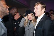 USAIN BOLT; ANDREA BARRON; JOCHEN ZEITZ;, Fundraising Gala for the Zeitz foundation and Zoological Society of London hosted by Usain Bolt. . London Zoo. Regent's Park. London. 22 November 2012.