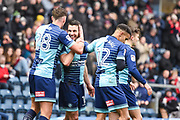 Wycombe Wanderers Midfielder Matthew Bloomfield (10) celebrates scoring (1-0) during the EFL Sky Bet League 2 match between Wycombe Wanderers and Carlisle United at Adams Park, High Wycombe, England on 3 February 2018. Picture by Stephen Wright.