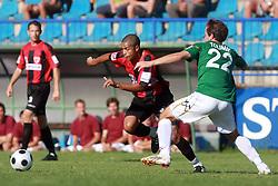 Joao Gabriel Da Silva (8) of Primorje and Nikola Tolimir (22) of Rudar  at 6th Round of PrvaLiga Telekom Slovenije between NK Primorje Ajdovscina vs NK Rudar Velenje, on August 24, 2008, in Town stadium in Ajdovscina. Primorje won the match 3:1. (Photo by Vid Ponikvar / Sportal Images)