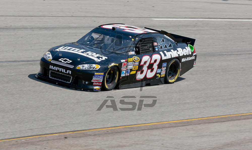 RICHMOND, VA - APR 27, 2012:  Stephen Leicht (33) and his crew practice for the Capital City 400 Presented by Virginia Is For Lovers at the Richmond International Raceway in Richmond, VA.