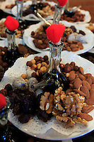 Nuts, dates and vinegar at a restaurant beside the Montserrat monastery near Barcelona, Spain