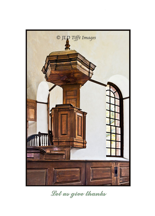 Pulpit of the historic Christ Church, Weems, VA
