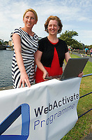 Aishling Hyland, Tír na nÓg ,Jacinta Lynam, web activator. Photo:Andrew Downes.