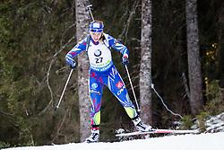 Anais Bescond (FRA) competes during Women 10 km Pursuit at day 3 of IBU Biathlon World Cup 2015/16 Pokljuka, on December 19, 2015 in Rudno polje, Pokljuka, Slovenia. Photo by Ziga Zupan / Sportida