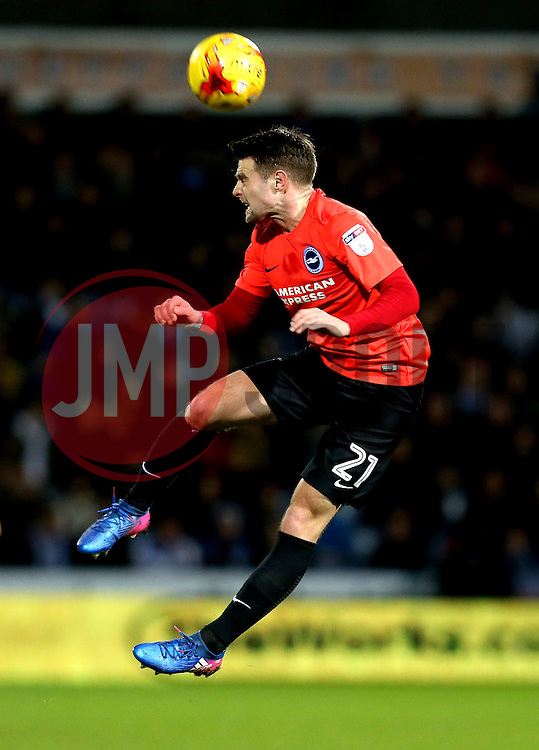 Oliver Norwood of Brighton & Hove Albion heads the ball - Mandatory by-line: Robbie Stephenson/JMP - 02/02/2017 - FOOTBALL - John Smith's Stadium - Huddersfield, England - Huddersfield Town v Brighton and Hove Albion - Sky Bet Championship