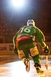Ales Music (HDD Tilia Olimpija, #16) during ice-hockey match between HDD Tilia Olimpija and SAPA Fehervar AV19 at second match in Quarterfinal  of EBEL league, on Februar 21, 2012 at Hala Tivoli, Ljubljana, Slovenia. (Photo By Matic Klansek Velej / Sportida)