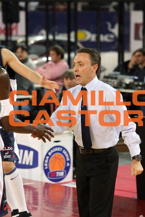 DESCRIZIONE : Napoli Lega A1 2006-07 Lottomatica Virtus Roma Eldo Napoli<br /> GIOCATORE : Bucchi<br /> SQUADRA : Eldo Basket Napoli<br /> EVENTO : Campionato Lega A1 2006-2007 <br /> GARA : Lottomatica Virtus Roma Eldo Napoli<br /> DATA : 25/03/2007 <br /> CATEGORIA : esultanza<br /> SPORT : Pallacanestro <br /> AUTORE : Agenzia Ciamillo-Castoria/E.Castoria