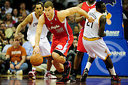 Feb. 11, 2011; Cleveland, OH, USA; Los Angeles Clippers power forward Blake Griffin (32) drives down court during the fourth quarter at Quicken Loans Arena. The Cavaliers broke their loosing streak beating the Clipper 126-119 in overtime. Mandatory Credit: Jason Miller-US PRESSWIRE
