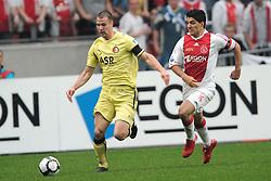 25-04-2010 VOETBAL: AJAX - FEYENOORD: AMSTERDAM<br /> De eerste wedstrijd in de bekerfinale is gewonnen door Ajax met 2-0 / ron Vlaar en Luis Suarez<br /> ©2010-WWW.FOTOHOOGENDOORN.NL