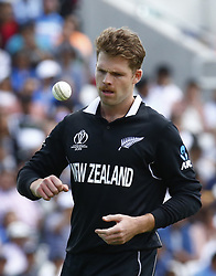 May 25, 2019 - London, England, United Kingdom - Lockie Ferguson of New Zealand.during ICC World Cup - Warm - Up between India and New Zealand at the Oval Stadium , London,  on 25 May 2019. (Credit Image: © Action Foto Sport/NurPhoto via ZUMA Press)