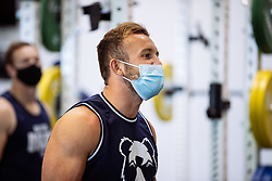 Andy Uren in action in the gym as Bristol Bears start to use their new almost completed Training centre - Rogan/JMP - 08/07/2020 - RUGBY UNION - Beggar Bush Lane - Bristol, England.