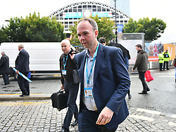 © Licensed to London News Pictures. 30/09/2017. Manchester, UK. GAVIN BARWELL, chief of staff to Theresa May, arrives in Manchester ahead of the Conservative Party Conference which starts on Sunday at Manchester Central. There have been conflicts within the conservative party and government over the UK's approach to Brexit, which is expected to feature heavily at this years event. Photo credit: Ben Cawthra/LNP