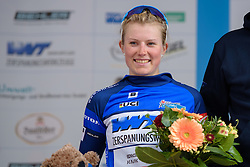 After being active in the intermediate sprints, Lotta Lepistö (Cervélo Bigla) defends the sprinter's jersey at Thüringen Rundfarht 2016 - Stage 3 a 115km road race starting and finishing in Altenburg, Germany on 17th July 2016.