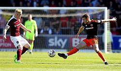 Paul Coutts of Sheffield United takes on Luke Williams of Northampton Town - Mandatory by-line: Robbie Stephenson/JMP - 08/04/2017 - FOOTBALL - Sixfields Stadium - Northampton, England - Northampton Town v Sheffield United - Sky Bet League One
