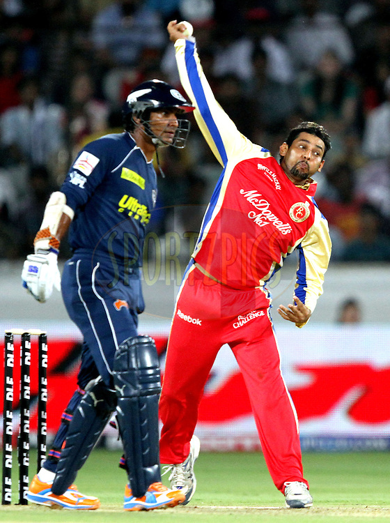 TM Dilshan  during match 11 of the Indian Premier League ( IPL ) between the Deccan Chargers and the Royal Challengers Bangalore held at the Rajiv Gandhi International Cricket Stadium in Hyderabad on the 14th April 2011..Photo by Prashant Bhoot/BCCI/SPORTZPICS.