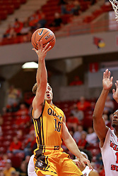 05 November 2016:   Grant Meyer during an NCAA  mens basketball game where the Quincy Hawks lost to the Illinois State Redbirds in an exhibition game at Redbird Arena, Normal IL