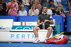 Richard Gasquet (FRA) playing at the Hopman Cup at the Perth Arena, in Perth, Australia, on january the 7th, 2017. Photo by Corinne Dubreuil/ABACAPRESS.COM