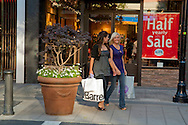 Shopping at Santana Row in San Jose, California