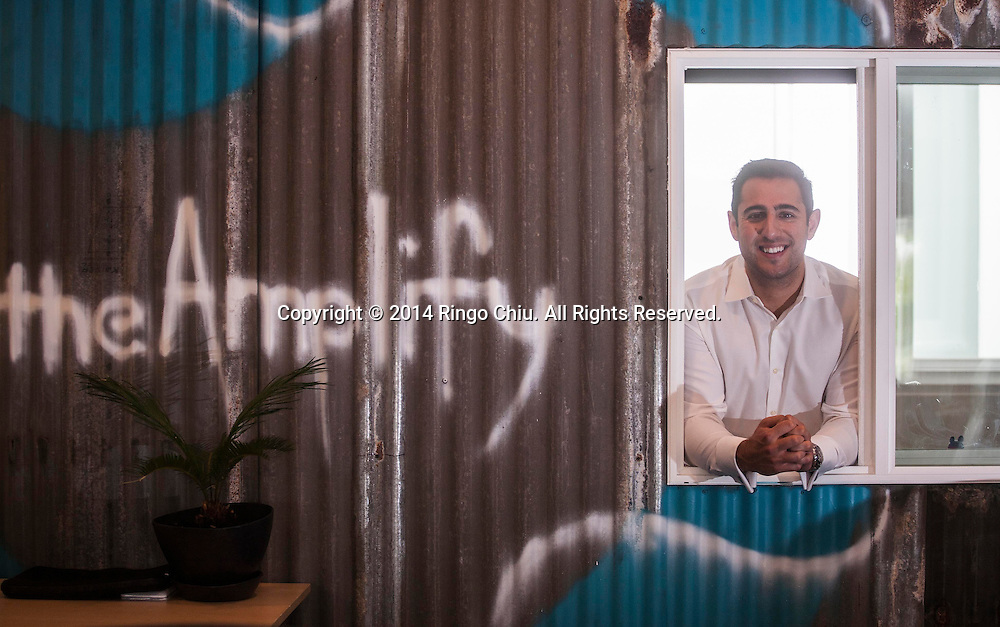 Justin Rezvani, CEO of TheAmplify. (Photo by Ringo Chiu/PHOTOFORMULA.com)