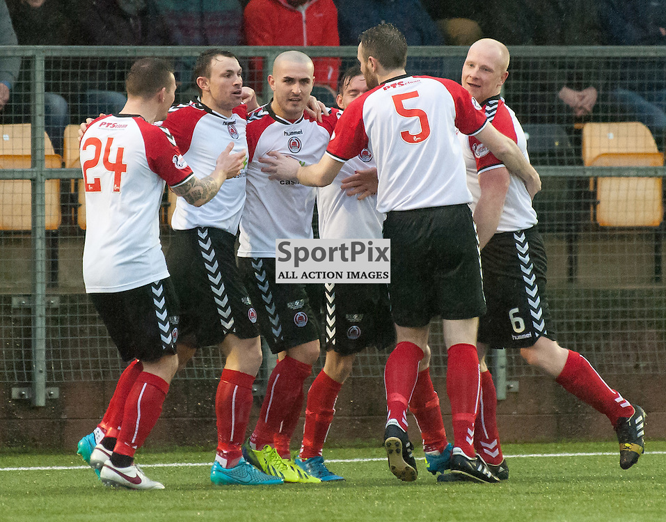Clyde celebrations ¥ Annan Athletic v Clyde ¥ Ladbrokes League 2 ¥ 26 December 2015 ¥ © Russel Hutcheson | SportPix.org.uk