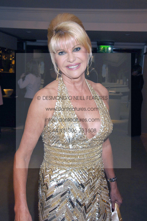 IVANA TRUMP at the Grosvenor House Art & Antiques Fair Gala evening in aid of the UKs oldest childrens charity CORAM held at the Grosvenor House Hotel, Park Lane, London on 14th June 2007.<br /><br />NON EXCLUSIVE - WORLD RIGHTS