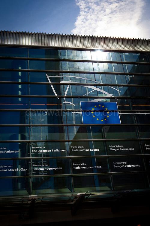 European Parliament building, Espace Léopold, Brussels, Belgium. April 4, 2013.