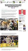 People Magazine. Westminster Dog Show - February 14, 2018