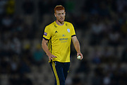 Ryan Stevenson of Hampshire during the Vitality T20 Blast South Group match between Hampshire County Cricket Club and Middlesex County Cricket Club at the Ageas Bowl, Southampton, United Kingdom on 20 July 2018. Picture by Dave Vokes.