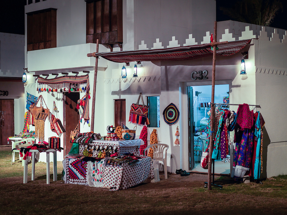 A shop at the local market selling native handcrafts.