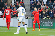 Marcos Aoas Correa dit Marquinhos (PSG) scored a goal from the decisive ball gaved from Giovani Lo Celso (PSG), Julian Draxler (PSG), Jean-Louis LECA (SC Bastia) during the French championship Ligue 1 football match between Paris Saint-Germain (PSG) and Bastia on May 6, 2017 at Parc des Princes Stadium in Paris, France - Photo Stephane Allaman / ProSportsImages / DPPI