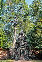 gateway in Angkor Thom temple Cambodia