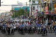 D Hai Ba Thrung. Motorcycle rushhour.