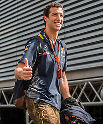 21.06.2015, Red Bull Ring, Spielberg, AUT, FIA, Formel 1, Grosser Preis von Österreich, Rennen, im Bild Daniel Ricciardo, (AUS, Infiniti Red Bull Racing) // during the Race of the Austrian Formula One Grand Prix at the Red Bull Ring in Spielberg, Austria, 2015/06/21, EXPA Pictures © 2015, PhotoCredit: EXPA/ Dominik Angerer