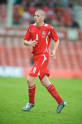 WREXHAM, WALES - Saturday, October 10, 2009: Wales' Nathan Craig during the UEFA Under-21 Championship Qualifying Round Group 3 match against Bosnia-Herzegovina at the Racecourse Ground. (Pic by Chris Brunskill/Propaganda)